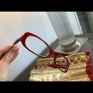 Red pink Mui Mui glasses